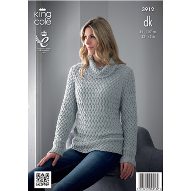 Ladies' Sweater and Gilet in King Cole Bamboo Cotton DK - 3912