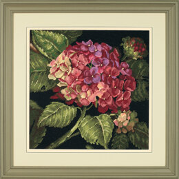 Dimensions Hydrangea Bloom Needlepoint Kit - 36 x 36 cm
