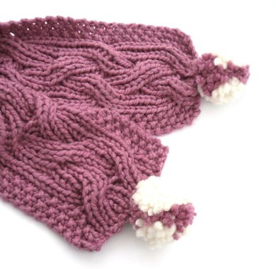 Chunky Reversible Cable Scarf Knitting Pattern By The Feminine Touch