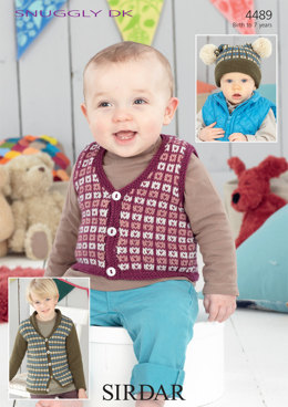 Cardigan, Waistcoat and Hat in Sirdar Snuggly DK - 4489 - Downloadable PDF