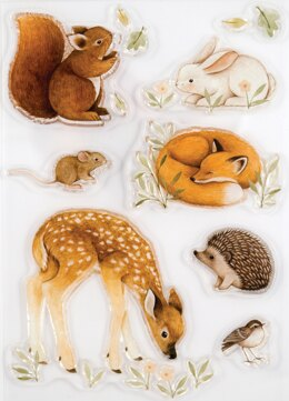 Craft Consortium A5 Clear Stamps - Little Fawn & Friends, Little Fawn