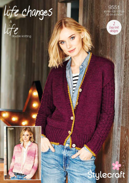 Cardigans in Stylecraft Life DK & Life Changes - 9551 - Downloadable PDF