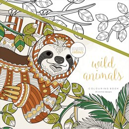 "Kaisercraft KaiserColour Perfect Bound Coloring BOok 9.75""X9.75"" - Wild Animals"