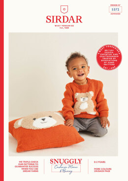 Baby's Sweater & Cushion in Sirdar Snuggly Cashmere Merino & Snuggly Bunny - 5372 - Leaflet