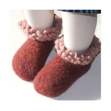 Felted Toddler Button Boots