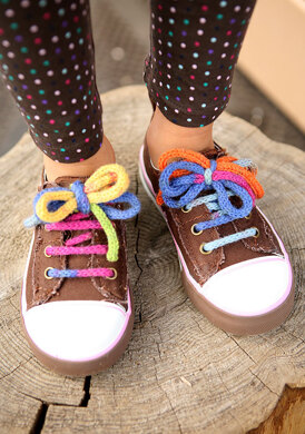 Friedrich Colorful Shoelaces in Berroco Sox 3 Ply