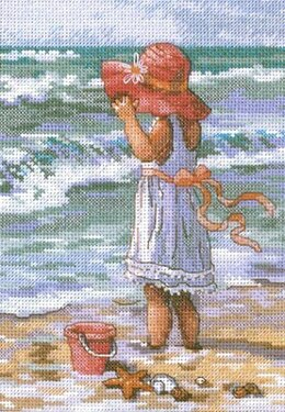 Dimensions Girl at the Beach Cross Stitch Kit