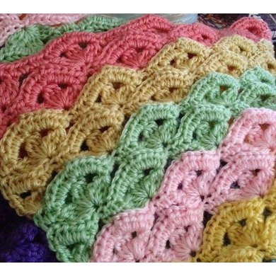 Irish Knit Baby Blanket Pattern : Irish Wave Baby Afghan Crochet pattern by Bizzy Crochet