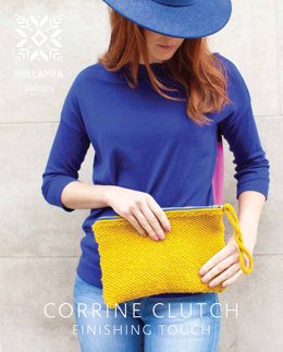 Corrine Clutch in MillaMia Naturally Soft Aran - Downloadable PDF