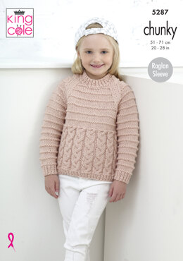 Sweater & Cardigan in King Cole Magnum Chunky - 5287 - Leaflet