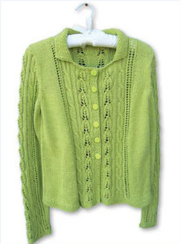 Au Naturel Cardie in Knit One Crochet Too Babyboo - 1524