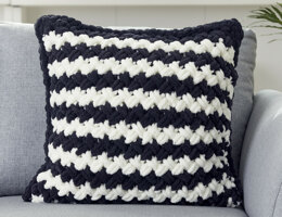 Two Colour Criss Cross Pillow in Bernat Alize Blanket-EZ - Downloadable PDF