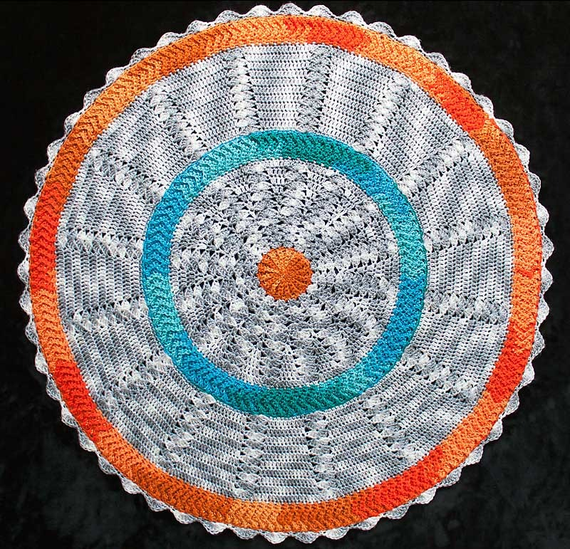 Round Baby Blanket 4 Crochet Project By George Of 10 Hours Or Less