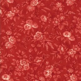 Moda Fabrics 3 Sisters Snowberry Berry Floral Delicate Sprays Red