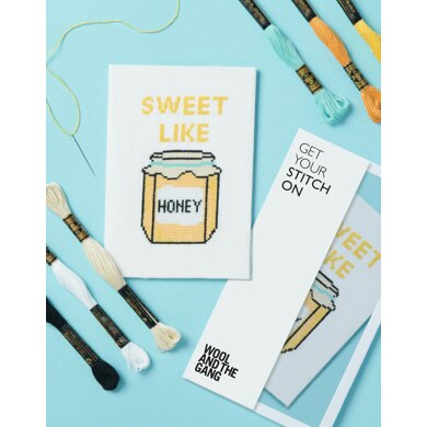 Wool and the Gang Sweet Like Honey Cross Stitch Kit