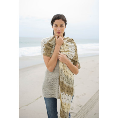Semi-Tropical Shawl in Lion Brand Cotton-Ease - 90444AD