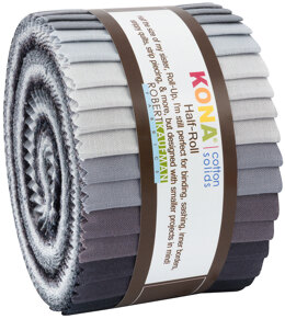 Robert Kaufman Kona Cotton Solids 1.5in Strip Roll - HR-146-24