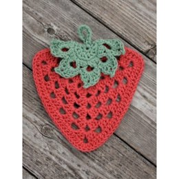 Granny Strawberry Dishcloth in Lily Sugar 'n Cream Solids
