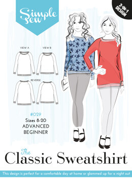 Simple Sew Patterns The Classic Sweatshirt #029 - Paper Pattern, Size 8-20