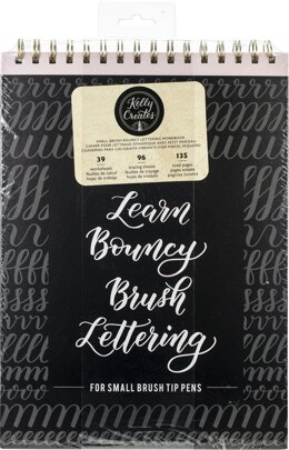"American Crafts Kelly Creates Small Brush Workbook 8.5""X12.3"" 135/Pkg - Bouncy"