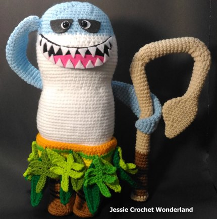 Maui Shark Head   Moana crochet project by Jessie Lin  96993f7cc33