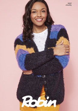 Slouch Cardigans in Robin - 3027 - Downloadable PDF