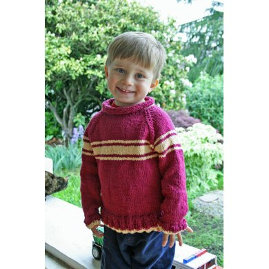 Kids' Stripey Raglan