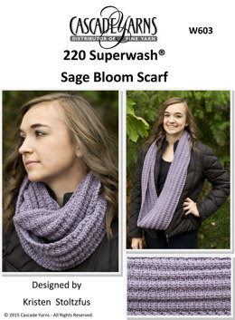 Sage Bloom Cowl in Cascade 220 Superwash - W603 - Downloadable PDF