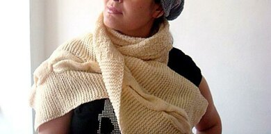 Easy Cabled Scarf