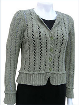 Delicate Vine Cardigan in Knit One Crochet Too 2nd Time Cotton - 1422