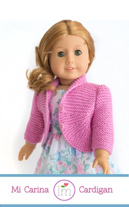 Summer cardigan for 18 inch dolls, doll clothes, doll cardigan pattern.
