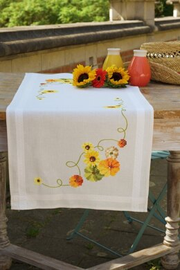 Vervaco Sunflowers Tablecloth Embroidery Kit - 40 x 100cm