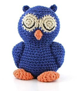 Sleepy Owl Toy in Hoooked Eco Barbante