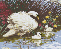 Grafitec Mother Swan and Signets Tapestry Canvas - Multi
