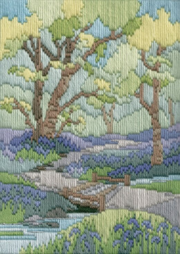 Derwentwater Designs Spring Walk Long Stitch Kit - 17 x 24cm