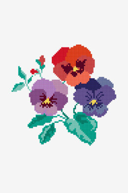 Pansy Bloom in DMC - PAT0646 -  Downloadable PDF