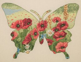 Anchor Butterfly Silhouette Cross Stitch Kit