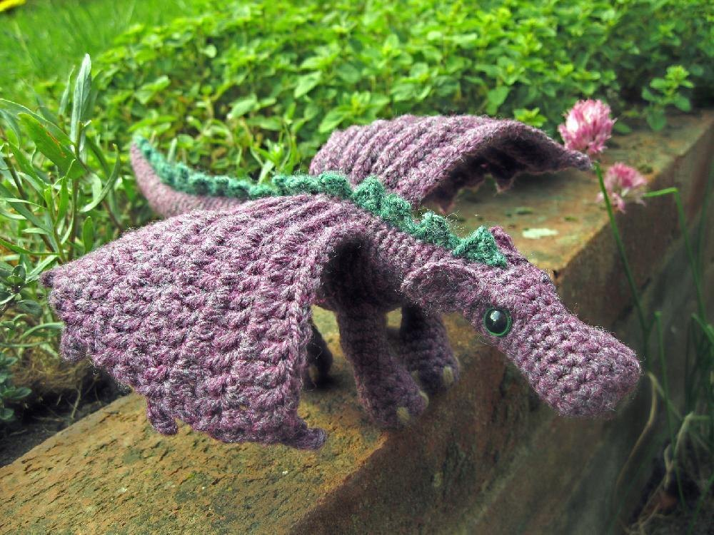 Fierce Little Dragon Crochet pattern by Lucy Collin | Crochet Patterns