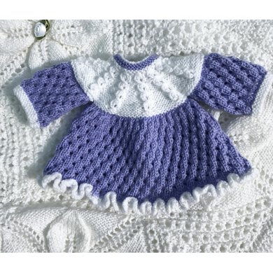 Frilled Dress For Premature Baby Or Doll 53 Knitting Pattern By