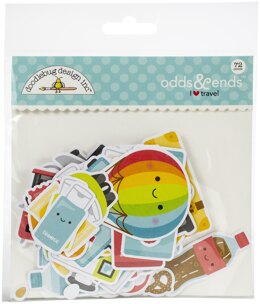 Doodlebug Odds & Ends Die-Cuts - I Heart Travel, 72/Pkg