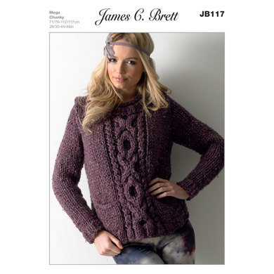 Sweater in James C. Brett Rustic Mega Chunky - JB117