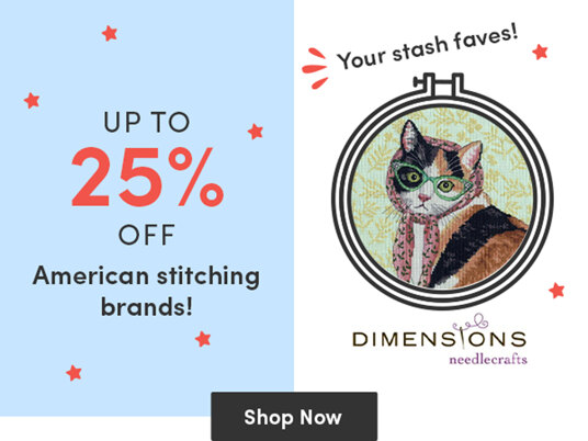 Up to 25 percent off American stitching brands!
