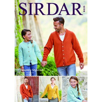 Cardigans in Sirdar Country Style DK - 8225 - Downloadable PDF