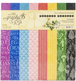 """Graphic 45 Double-Sided Paper Pad 12""""X12"""" 16/Pkg - Fashion Forward"""
