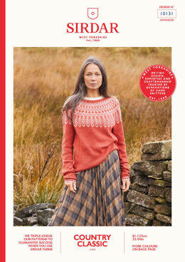 Ladies Sweater in Sirdar Country Classic 4 Ply - 10131 - Leaflet