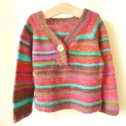 Jamie - a top down seamless stripy sweater