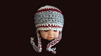 Sock Monkey Inspired  Hat