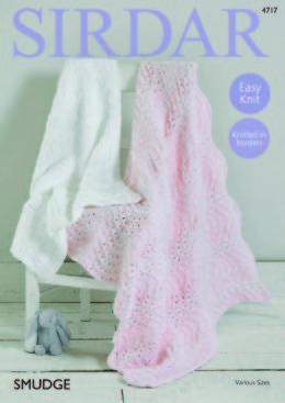 Blankets in Sirdar Smudge - 4717 - Downloadable PDF