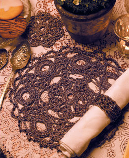 Placemats and Coasters in Anchor Artiste Metallic