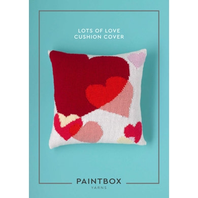 Lots of Love Cushion Cover in Paintbox Yarns Simply DK - Downloadable PDF